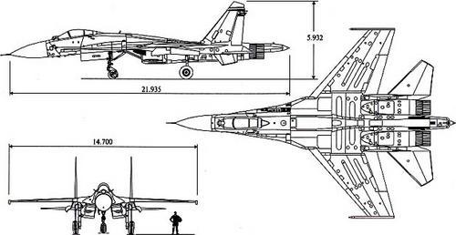 Самолет Су-27 выполнен по нормальной балансировочной схеме, имеет интегральную аэродинамическую компоновку с плавным...